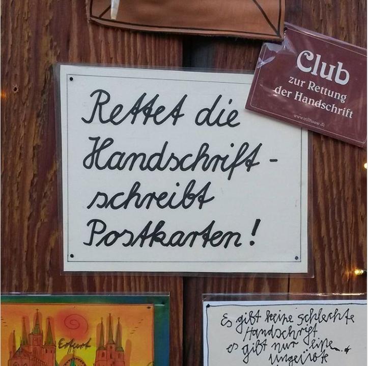 Rettet die Handschrift-schreibt Postkarten!