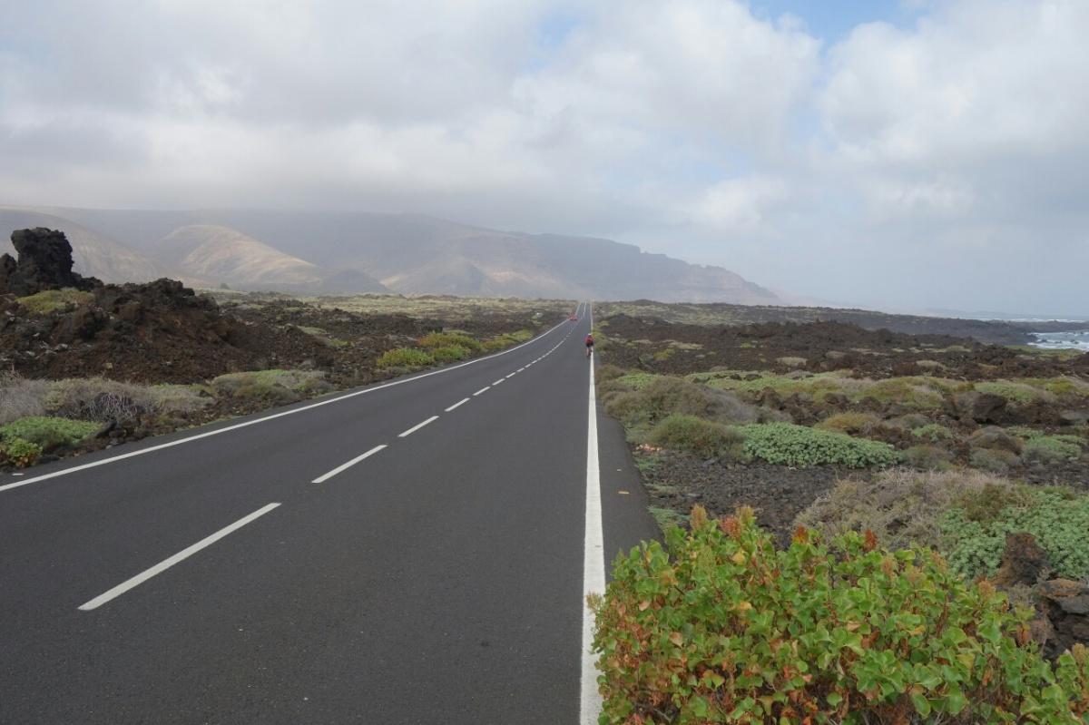 Ciclistas en Lanzarote
