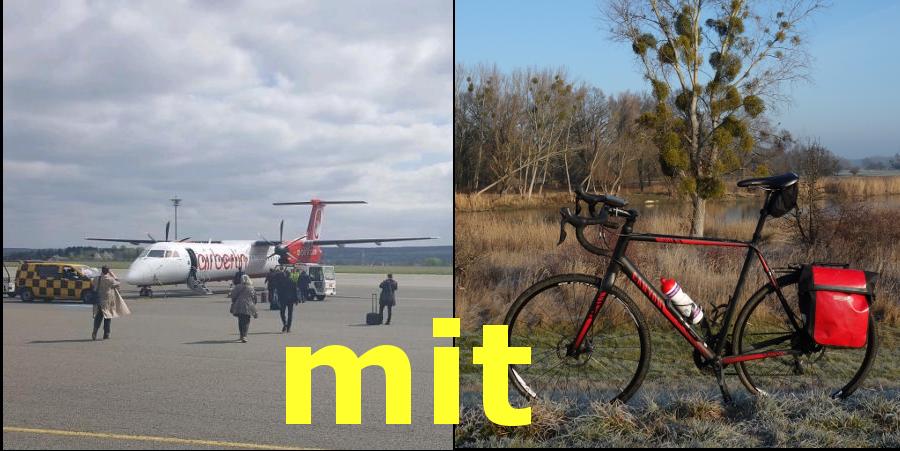 Fliegen mit Fahrrad