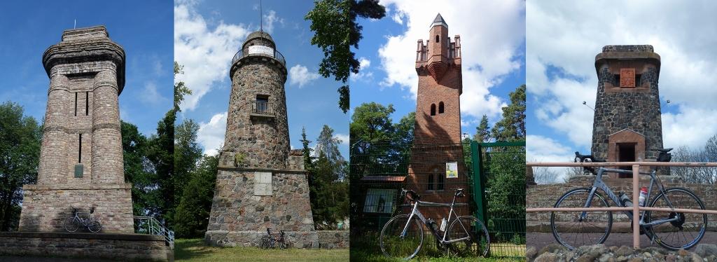 Drei weitere Bismarcktürme