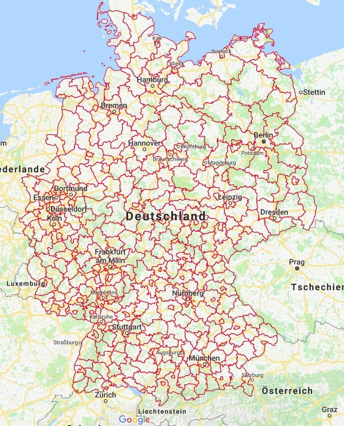 google karte deutschland Wie erzeuge ich in Google Maps eigene Karten mit politischen
