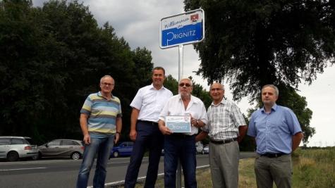 Willkommensschild Landkreis Prignitz, Brandenburg